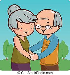 Senior couple - A happy senior couple at the park.