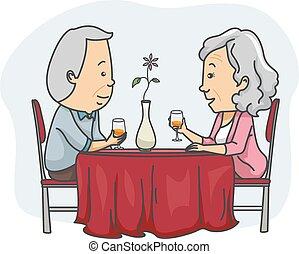 Senior Couple Date