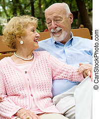Senior Couple Deeply in Love