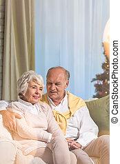 Senior couple during Christmas