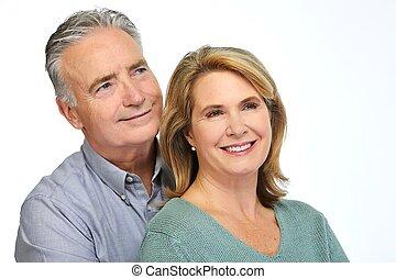 Senior couple .