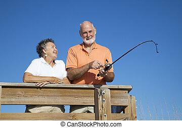 Senior Couple Fishing Trip