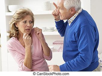 Senior Couple Having Argument At Home