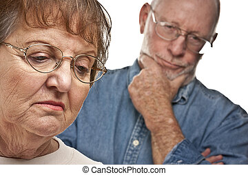 Senior Couple in an Argument - Angry Senior Couple in a...