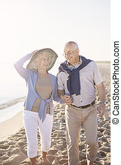 Senior couple in comfortable casual clothes
