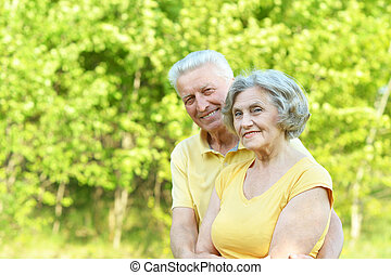 couple in summer park