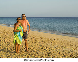 Senior Couple in the Beach