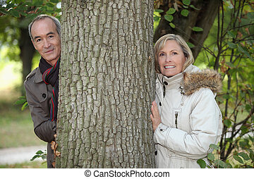 Senior couple in the countryside