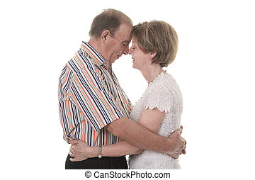 Senior Couple Isolated on a white Background