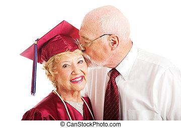 Senior Couple - Kiss for the Graduate