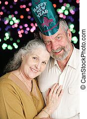 Senior Couple New Years Fireworks