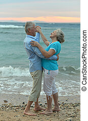 Senior couple on a beach