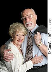 Senior Couple on Blk
