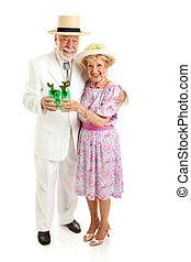 Senior Couple on Derby Day