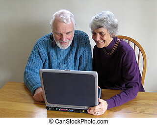 senior couple online