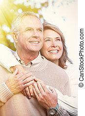 Senior couple portrait. - Happy senior couple relaxing in...