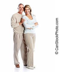 Senior couple portrait.