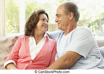 Senior Couple Relaxing At Home