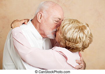 Senior Couple - Romantic Kiss