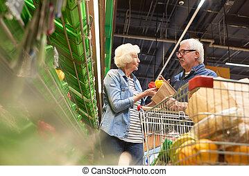 Senior Couple Shopping Together