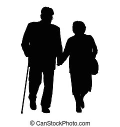 Senior couple silhouette