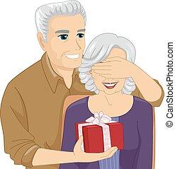 Senior Couple Surprise Gift