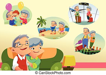 Senior Couple Thinking About Retirement Activities - A...