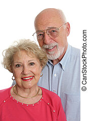 Senior Couple Together Vertical - An attractive senior...