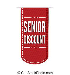 Senior discount banner design over a white background, ...