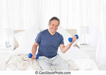 Senior do exercises at home