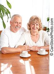 Senior elderly couple