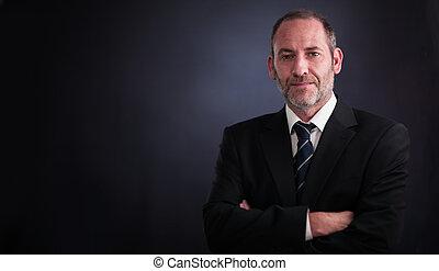 Senior executive businessman