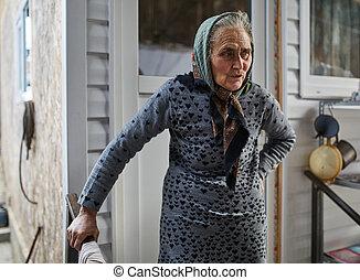 Senior farmer woman