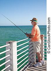 Senior Fisherman Vertical