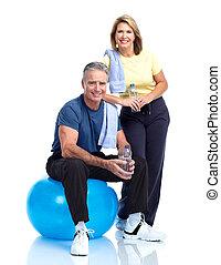 Senior fitness. - Gym, Fitness, healthy lifestyle. Senior...