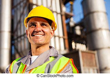 senior fuel refinery worker
