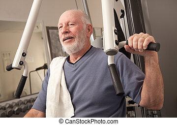 Senior Gentleman in Gym