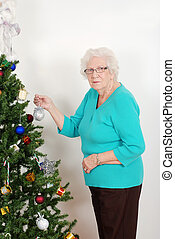 Senior hanging christmas ornament