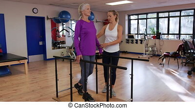 Senior health and fitness - Side view of a senior Caucasian...