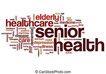 Senior health word cloud