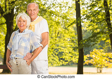 Senior husband and wife
