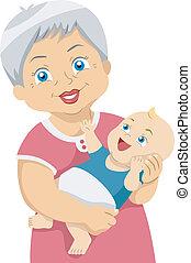 Senior - Illustration Featuring an Elderly Woman