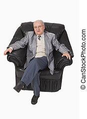 Senior in an armchair