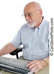 senior, komputer