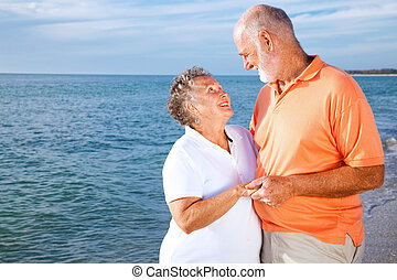 senior koppel, -, romatic, vakantie