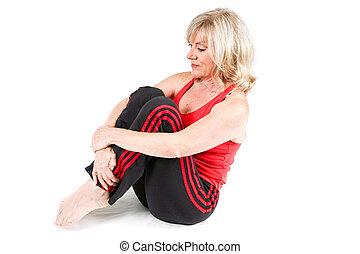 senior kvinde, exercising