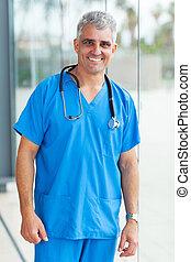 senior, läkar läkare