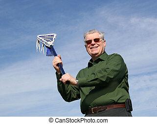 Senior Lacrosse  Man