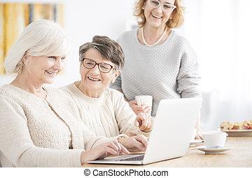 Senior ladies on the course