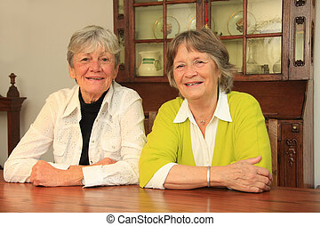 Senior ladies - Two smiling ladies in their seventies. Best ...